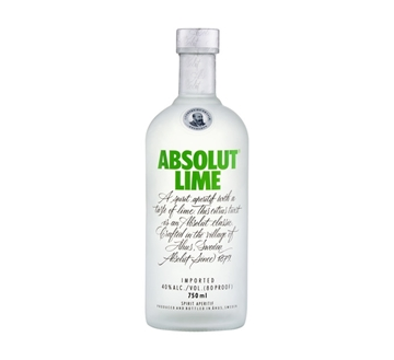 Picture of Absolut Lime Vodka Bottle 750ml