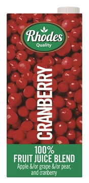 Picture of Rhodes Cranberry 100% Juice Pack 1l