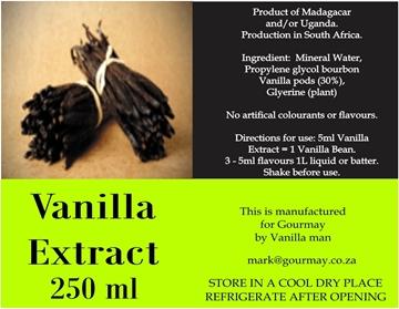 Picture of Vanilla Man Vanilla Extract Bottle 250ml