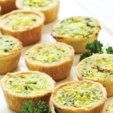 Picture of Foodmakers Frozen Mini Spinach Quiche Box 60 x 25g