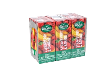 Picture of Rhodes Strawberry & Banana Juice Pack 6 x 200ml