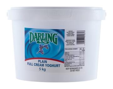 Picture of Darling Full Cream Plain Yoghurt Bucket 5kg