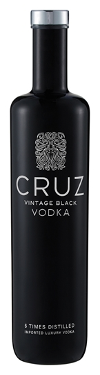 Picture of Cruz Vintage Black Vodka Bottle 750ml