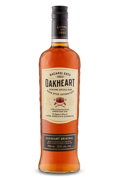 Picture of Bacardi Oakheart Rum Bottle 750ml