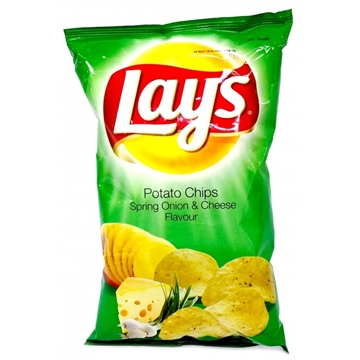Picture of CHIPS SPRING ONION&CHEESE LAYS 20X125G