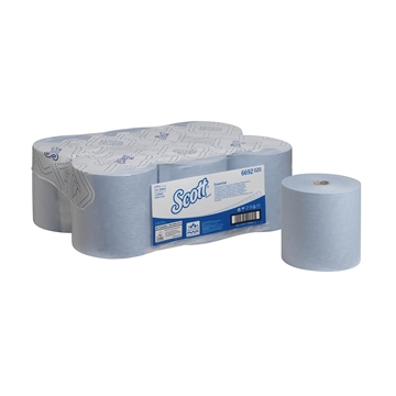 Picture of Scott Max Blue Rolled Hand Towel 6 x 350m Each
