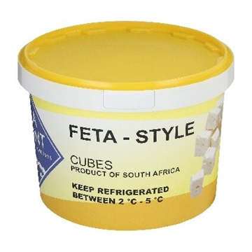 Picture of La Mont Traditional Feta Cheese Cubes Bucket 3kg