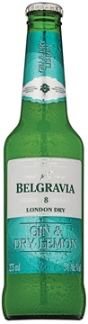 Picture of Belgravia Gin & Dry Lemon Tonic Bottle 24 x 275ml