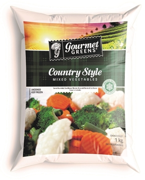 Picture of Gourmet Greens Frozen Country Mix Veg Pack 1kg