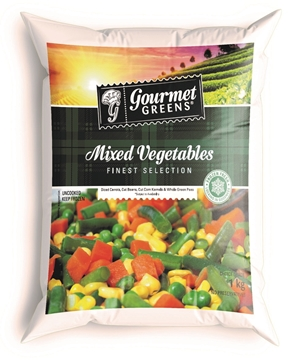 Picture of Gourmet Greens Frozen Mix Vegetables Pack 1kg