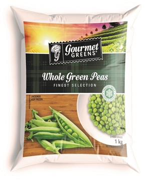 Picture of Gourmet Greens Frozen Peas Veg Pack 1kg