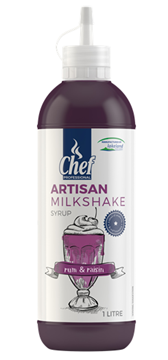 Picture of Artisan Rum & Raisin Milkshake Syrup Bottle 1l