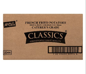 Picture of McCain Restaurant Frozen Chips 10mm Box 4 x 2.5kg