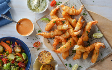 Picture of Pacific West Frozen Tempura Prawns 16/20 Pack 1kg