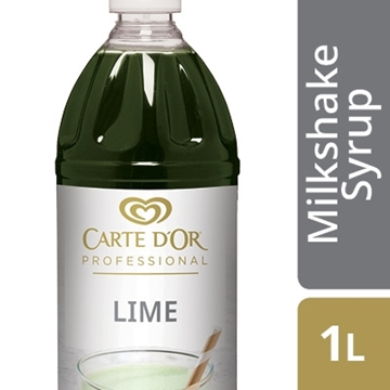 Picture of Carte D'or Lime Milkshake Syrup Bottle 1l