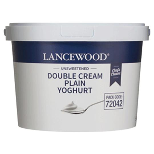 Picture of Lancewood Plain Double Cream Yoghurt Bucket 5l