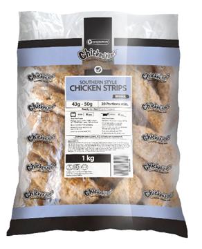 Picture of Chickentizers Frozen Chicken Schnitzel Box 48x125g