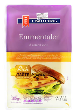 Picture of Emborg Emmentaler Cheese Slices Pack 150g