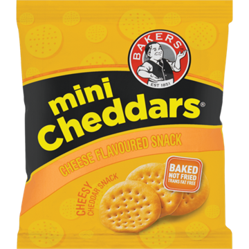 Picture of Bakers Mini Cheddar Cheese Box 36 x 33g