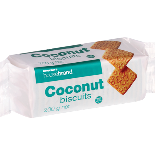 Picture of Checkers Housebrand Coconut Biscuits Pack 200g