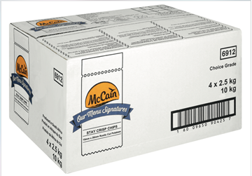 Picture of McCain Rustic Cut Frozen Chips Box 4 x 2.5kg