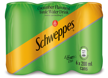 Picture of Schweppes Cucumber Tonic Cans 6 x 200ml