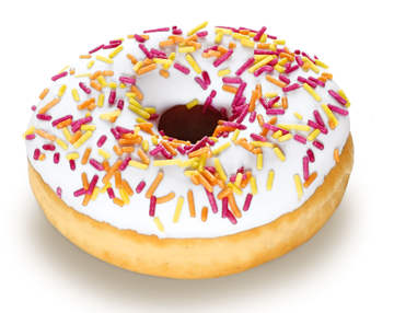 Picture of Frozen Doughnut Party Iced Fully FinishRich36x58g