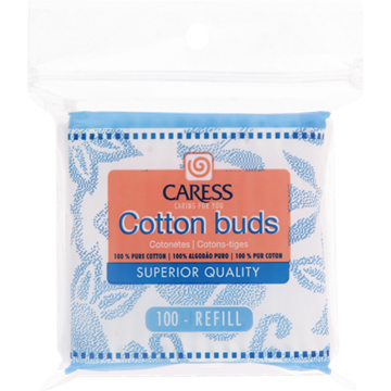 Picture of Caress 100 Cotton Buds Zipper Bag
