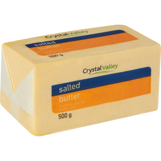 Picture of Crystal Valley frozen Salted Butter Brick 500g