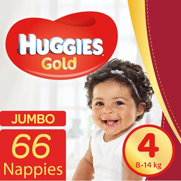 Picture of Huggies Diapers Gold Size 4 Jumbo 66 Pack