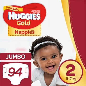 Picture of Huggies Dry Comfort Jumbo Size 2 Diapers 94 Pack
