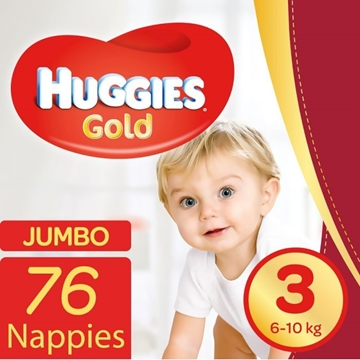 Picture of Huggies Gold Size 3 Nappies 76 Pack