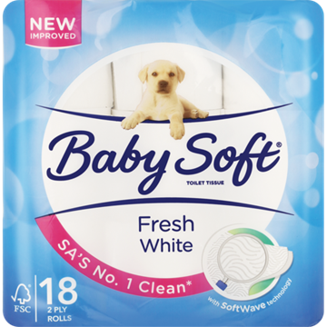 Picture of Baby Soft White 2 Ply Toilet Rolls 18 Pack