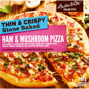 Picture of Bella Vita Frozen Ham & Mushroom Pizza 350g