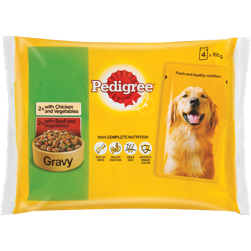 Picture of Dog Food Chic Beef & Veg Pedigree 4 x 100 g