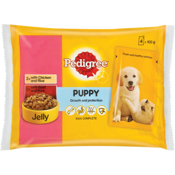 Picture of Pedigree Beef & Rice Dog Food Pack 4 x 100g