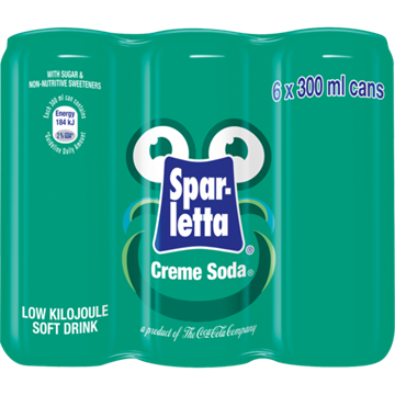 Picture of Sparletta Creme Soda Soft Drink Cans 6 x 330ml