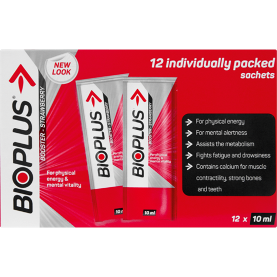 Picture of Bioplus Strawberry Energy Tonic Sachets 12 x 10ml
