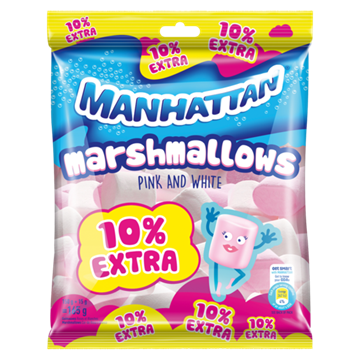 Picture of MARSHMALLOWS PINK&WHITE MANHATTAN 24X165G PACK