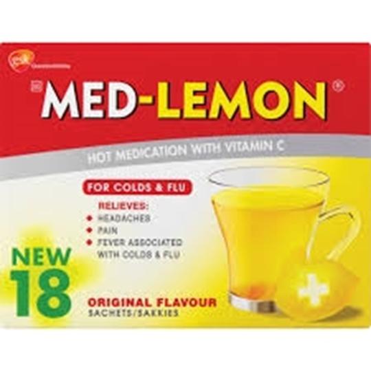 Picture of Med-Lemon Regular Cold & Flu Remedy 18 Pack