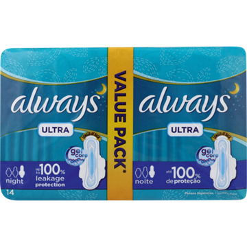 Picture of Always Ultra Night Sanitary Pads 14 Pack