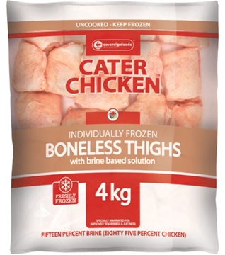 Picture of Frozen Chicken Thighs Boneless Cater 4kg