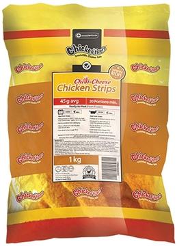 Picture of Chickentizers Frozen ChilliCheese ChickenStrips6kg