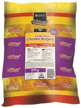Picture of Chickentizer Chicken Chilli/Cheese Burger 6x0.97kg