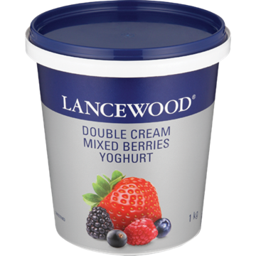 Picture of Lancewood Double Cream Mix Berry Flav Yoghurt 1kg