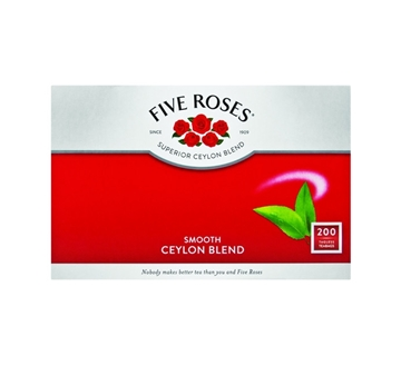 Picture of Five Roses Teabags Envelopes Box 200s