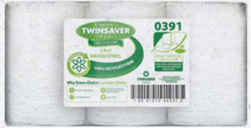 Picture of Twinsaver Control Hand Towel 1 Ply Pack 6s