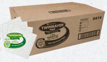Picture of Twinsaver Serviette 1 Ply 290 x 300 1000s