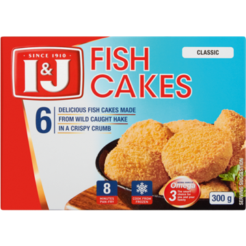 Picture of I&J Frozen Classic Fish Cakes 300g