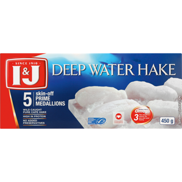 Picture of I&J Frozen Deep Water Hake Medallions 450g